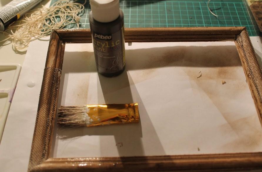Как сделать рамку под старину своими руками