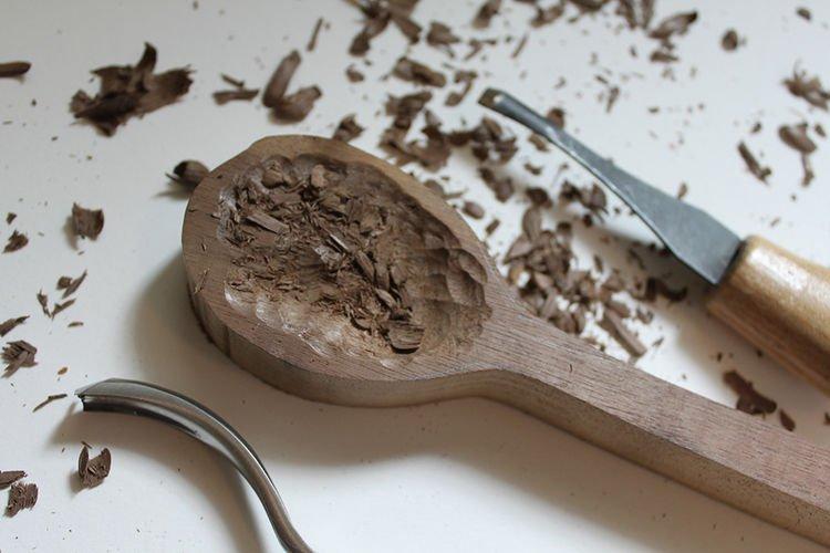 Как сделать из дерева ложка