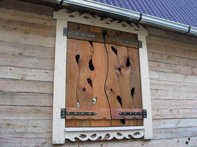 Как сделать деревянные ставни своими руками