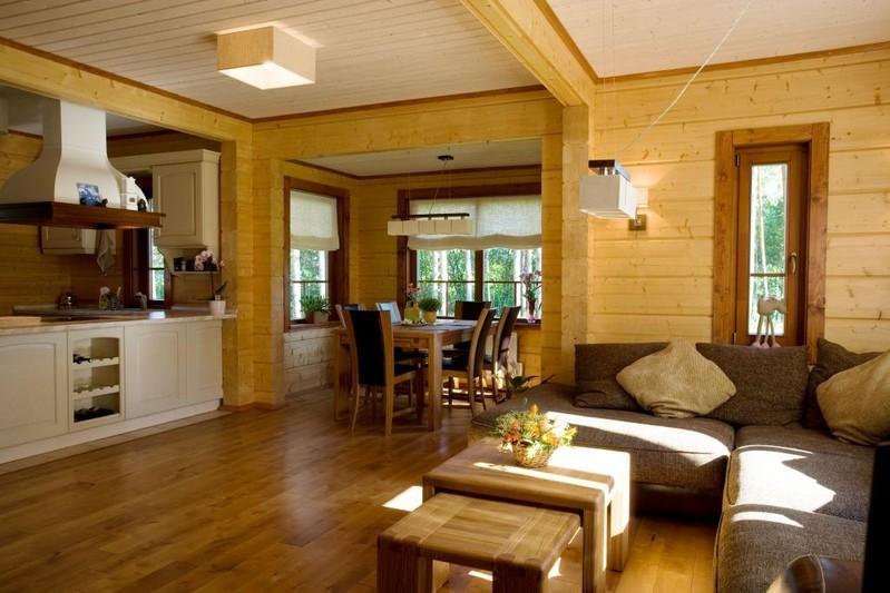 Дизайн и отделка домов из бруса