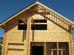 Крыша в доме из бруса пошаговое