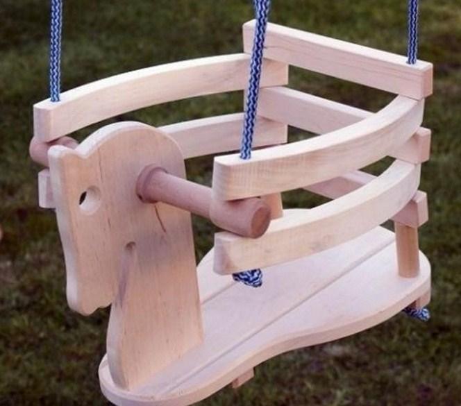 Как сделать качели ребенку из дерева 7
