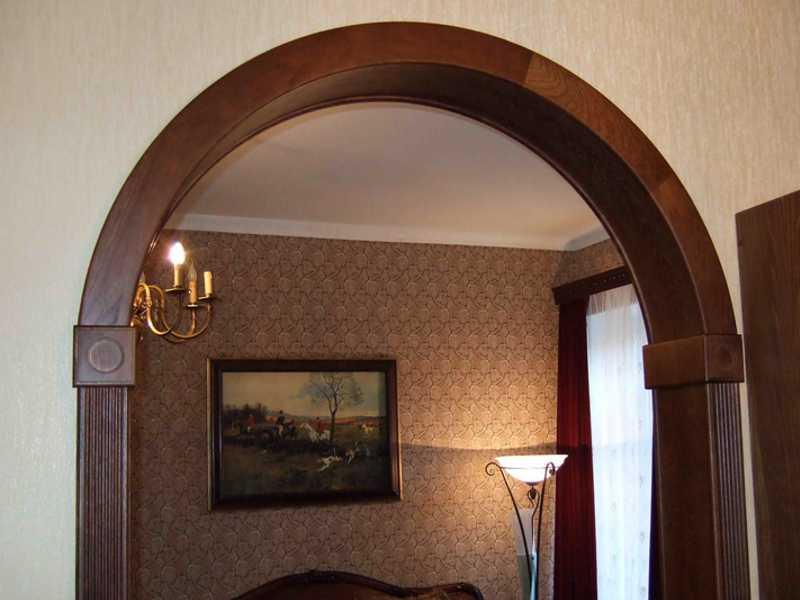 Отделка арки деревом в квартире фото