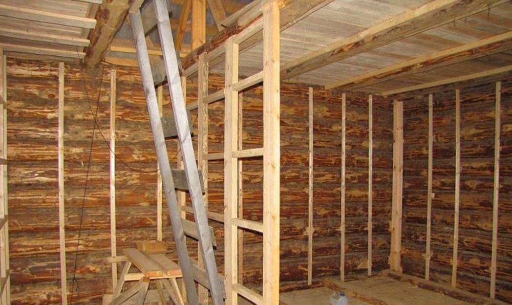 Устройство перегородки в деревянном доме своими руками 74