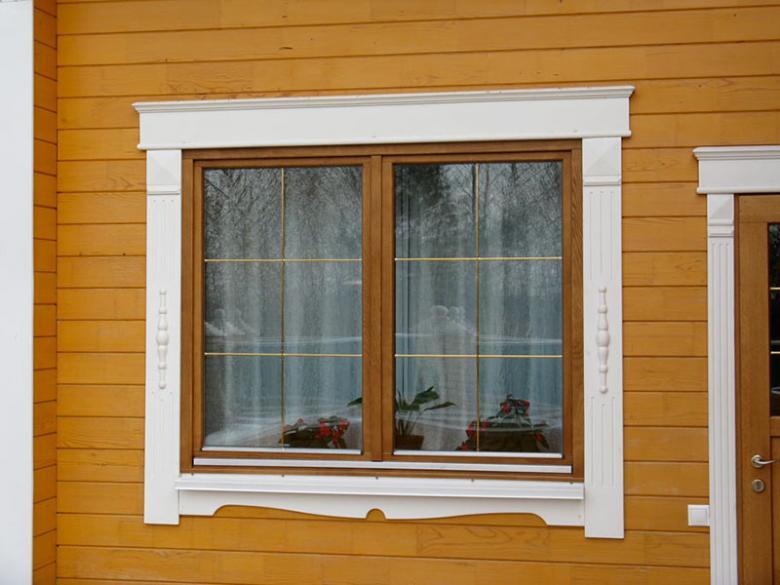 Наличники на окна снаружи своими руками
