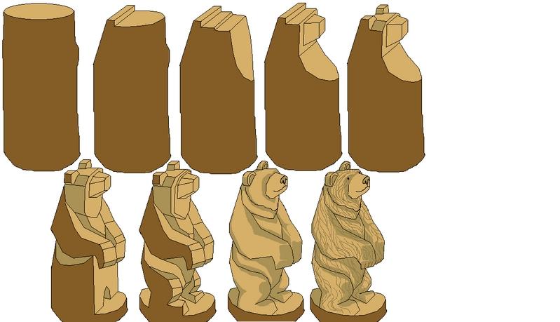 Как из дерева сделать фигуру