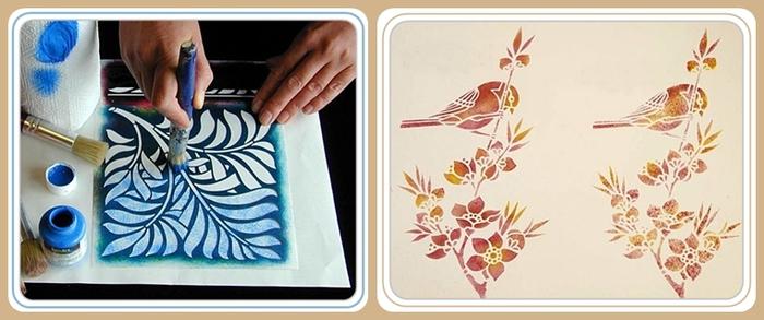 Трафарет для росписи на ткани