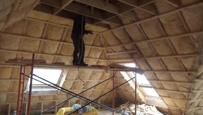 Утепление крыши дома изнутри