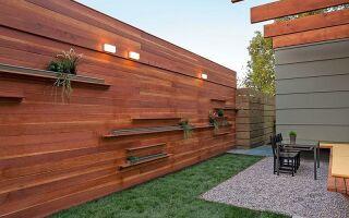 Горизонтальный вид деревянного забора
