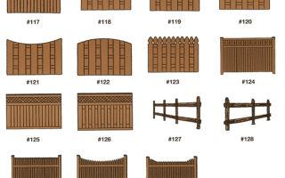 Виды и особенности деревянных заборов