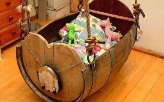 Природная колыбель, или как сделать деревянную детскую кроватку своими руками