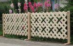 Простор для фантазии: деревянный декоративный забор