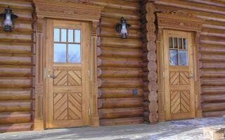 Строительные двери из дерева: экономия и надёжность