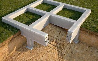 Варианты фундаментов для домов из бруса