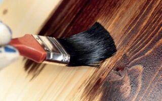 Как осуществляется покраска дерева