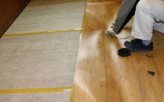 Выравнивание деревянного пола фанерой под линолеум