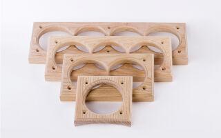 Монтаж металлических подрозетников для дерева