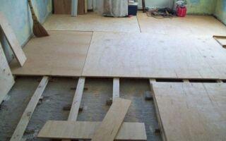 Как выбрать и уложить фанеру на деревянный пол