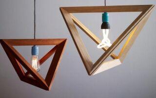 Как сделать деревянный светильник
