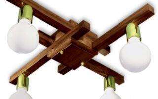 Делаем деревянную люстру с помощью подручных инструментов