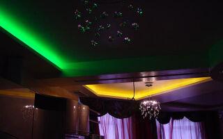 Как сделать светящийся потолок при помощи светодиодной ленты