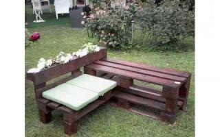 Как собрать деревянный садовый столик