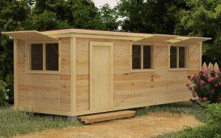 Строительство деревянной бытовки или вагончика на участке