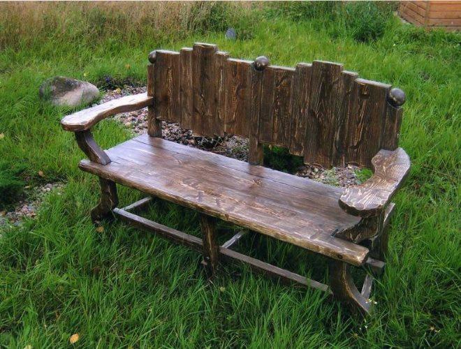 Эксклюзивная деревянная скамейка