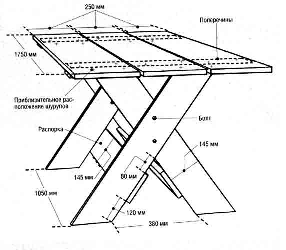 деревянный стол со