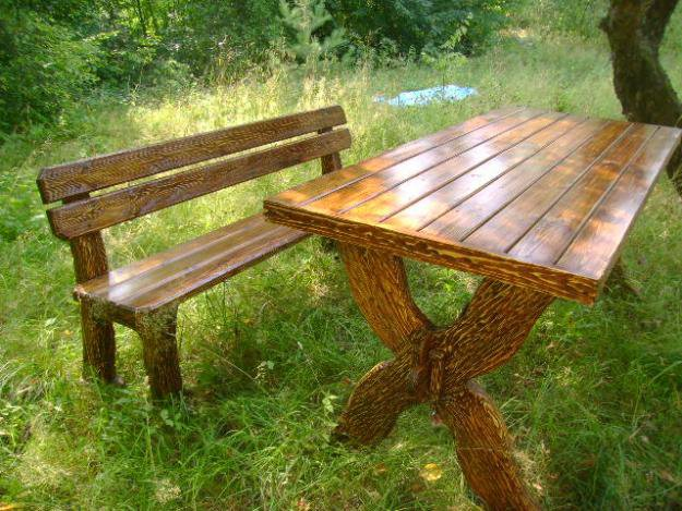 Деревянный стол своими руками на даче фото 36