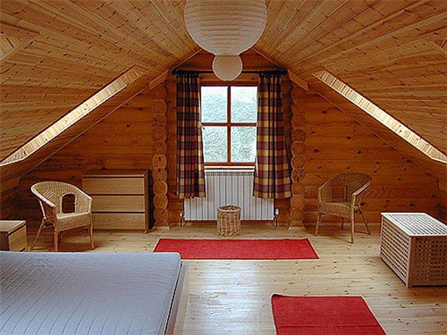 деревянная мансарда