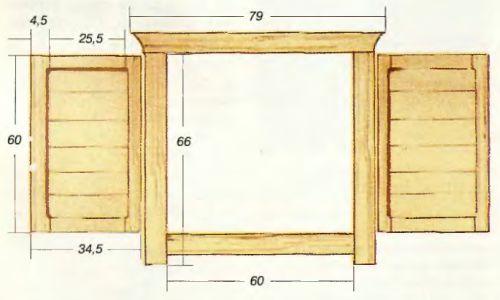 деревянные рамы схема
