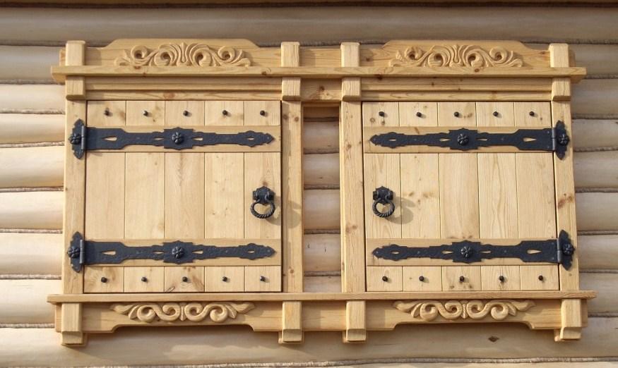виды деревянных ставень