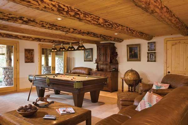 дизайн потолка в деревянном доме