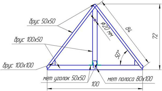 схема крышки для колодца