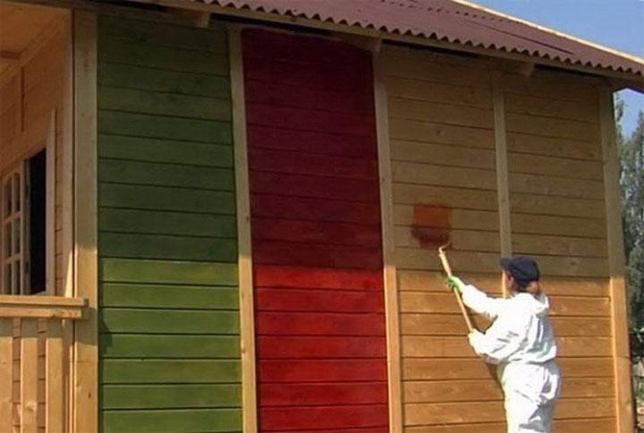 цвет покраски деревянного дома