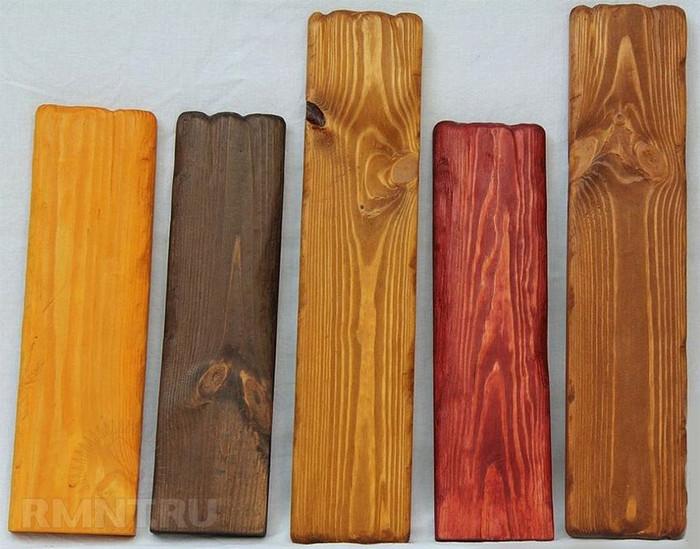 Морилки по дереву, цветовая гамма от белой до цветной, способы правильного нанесения