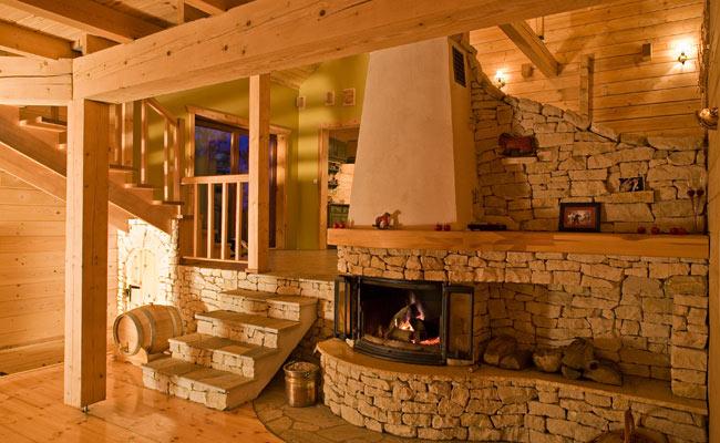 фото отделки деревянного дома