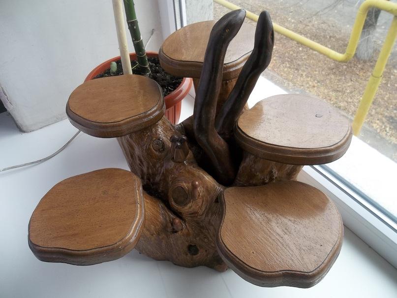 подставка под цветы деревянная напольная
