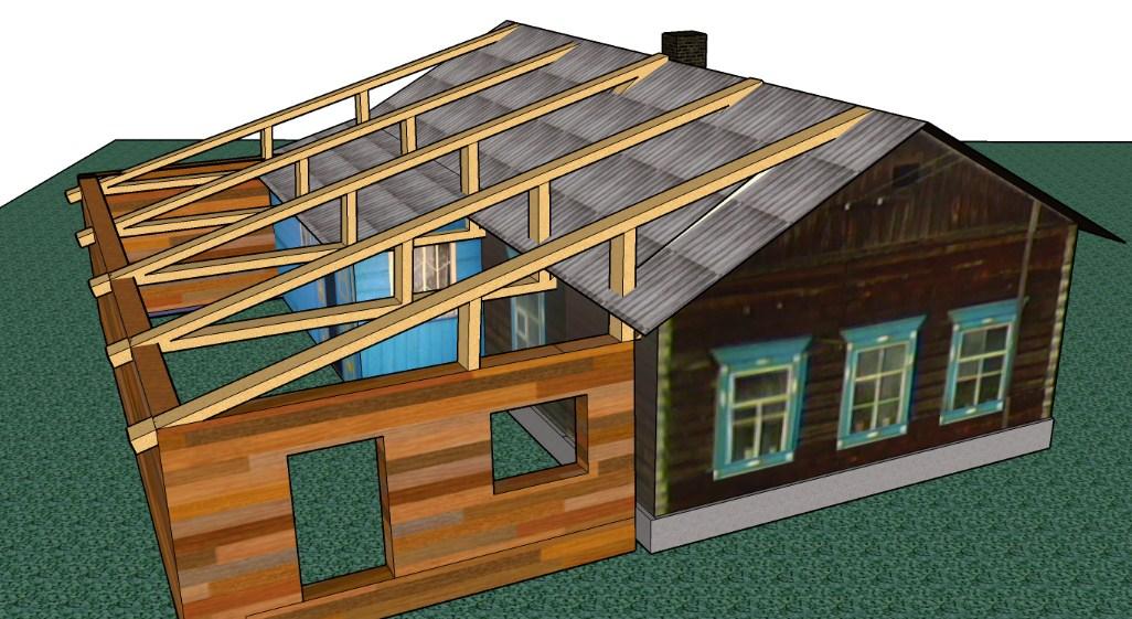 пристройки к деревянному дому проекты, фото