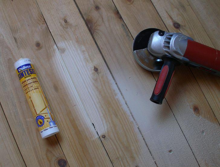 ремонт пола герметиком