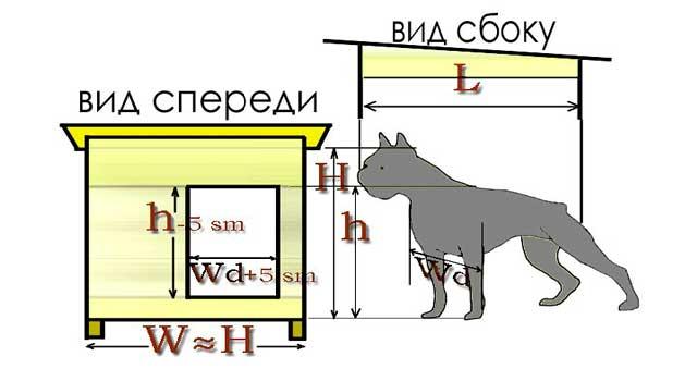 собачья будка чертеж