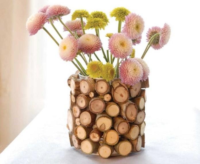 ваза из дерева