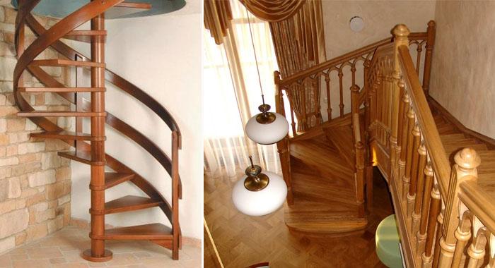 винтовая, комбинированная лестница