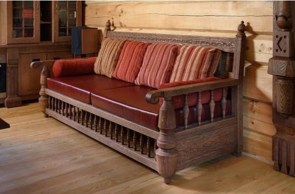 деревянный диван-кровать