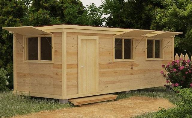деревянный вагончик