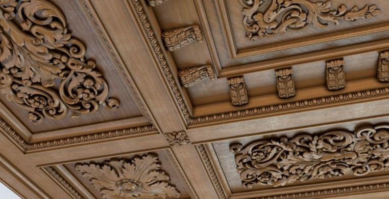 резные панели на потолок