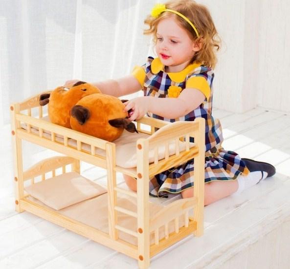 двуъярусная кровать для кукол