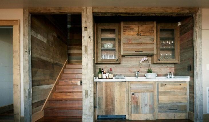 обожженная древесина в интерьере