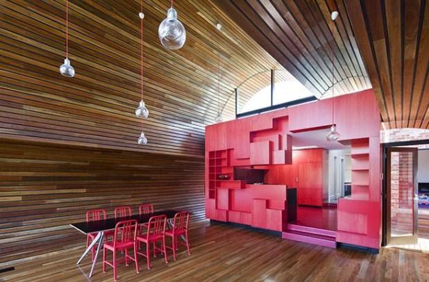потолок из деревянной рейки